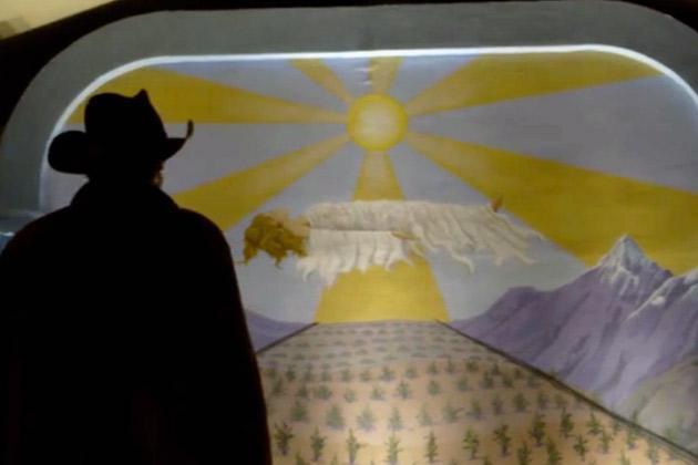 Longmire remembers strange mural