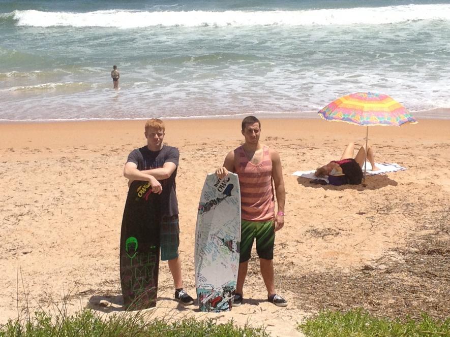 Cody and Luke on Spring Break in Flagler Beach