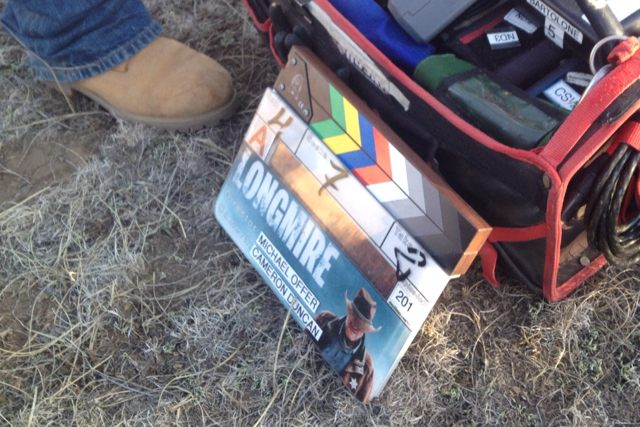 It's not a shoot without official clapboard
