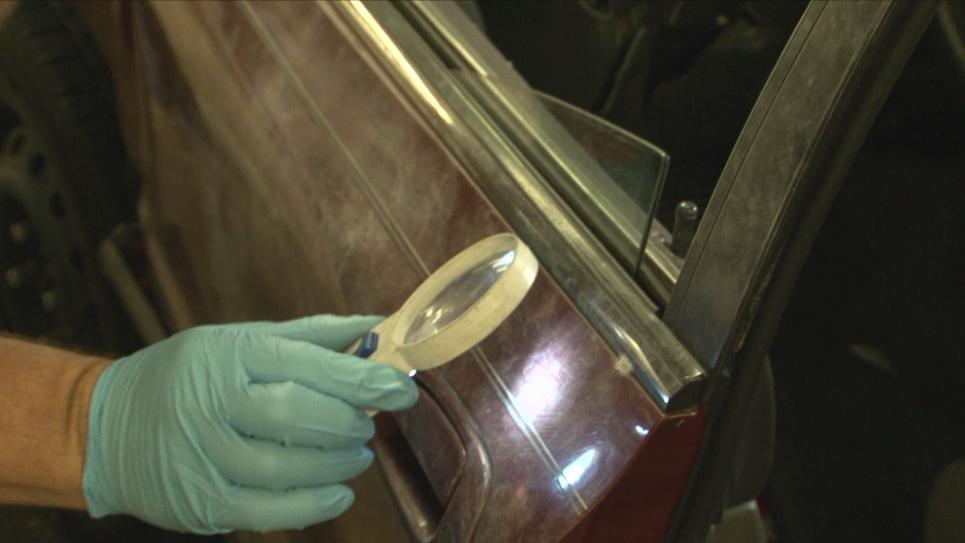 Cleveland Crime Scene searches for fingerprints
