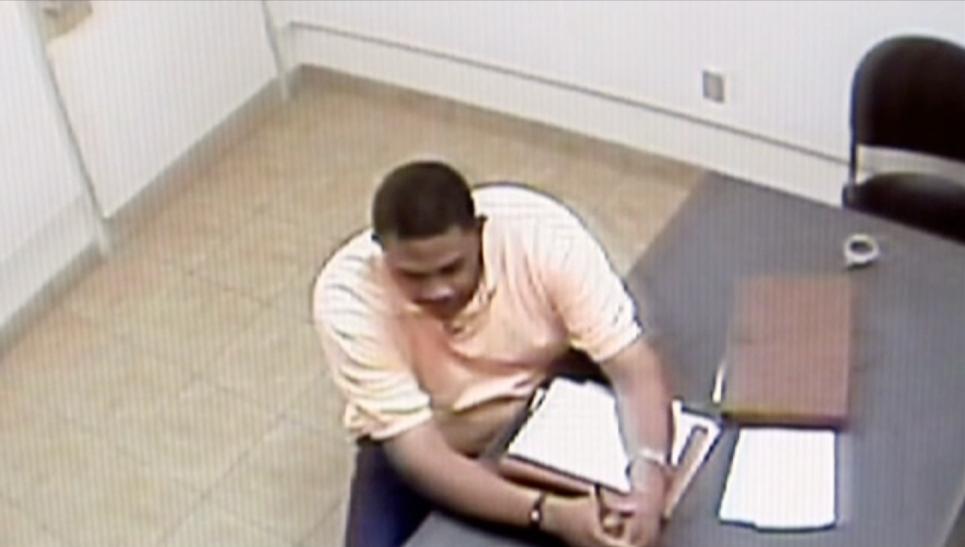 Detective Anderson interviews suspect
