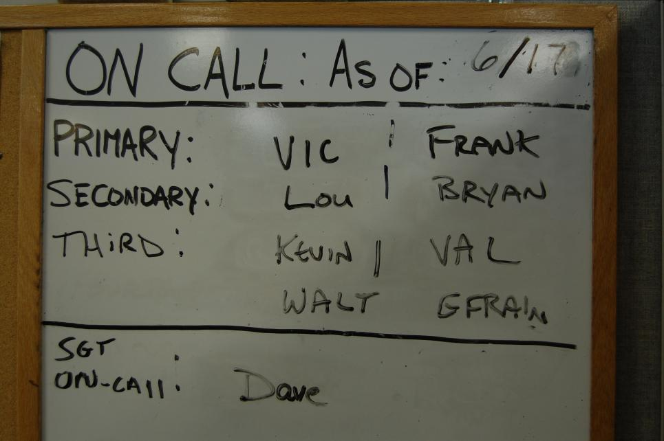On Call Board is one of detectives' most used tools