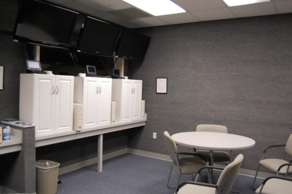 Monitor room lets detectives watch all interviews at once