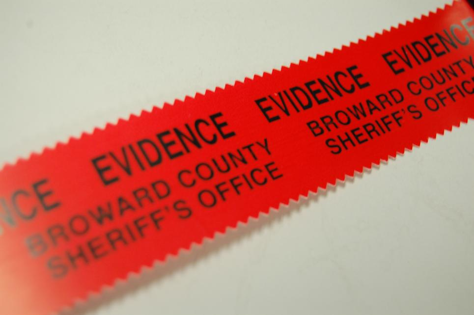 Evidence tape is one of first tools used on scene