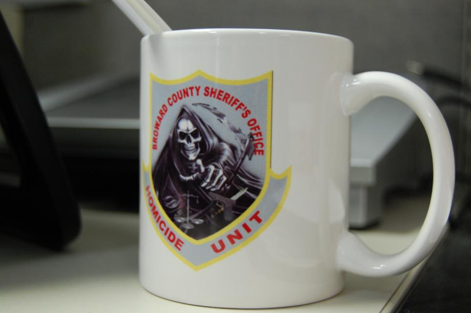 Broward County coffee mug features grim reaper