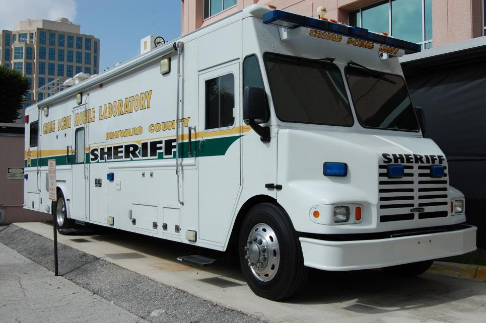 Mobile lab can be driven to crime scenes