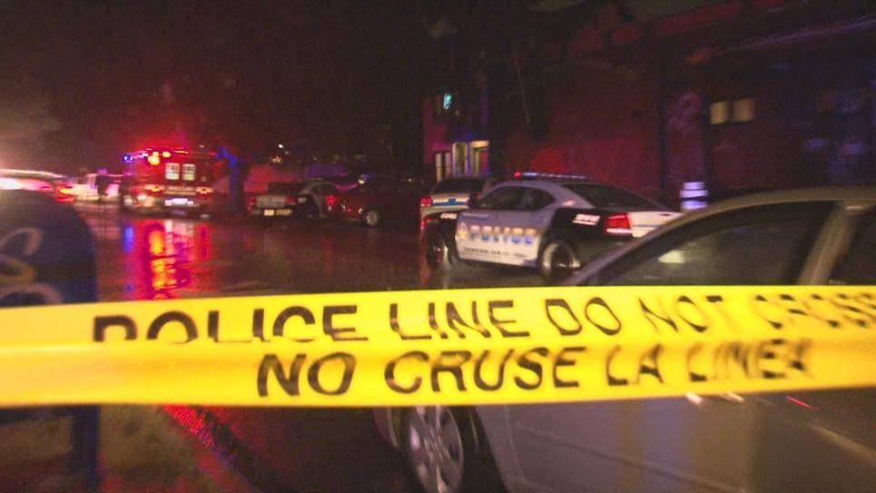 Dallas detectives arrive at crime scene