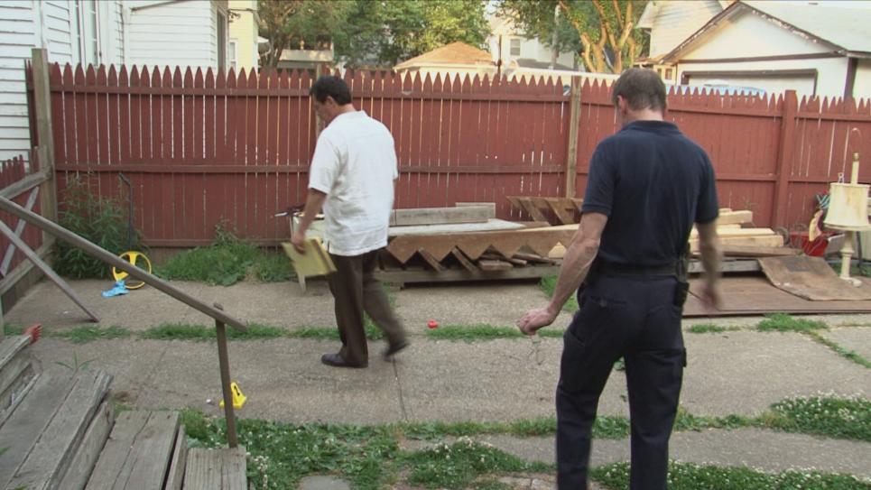 Victim was murdered in backyard