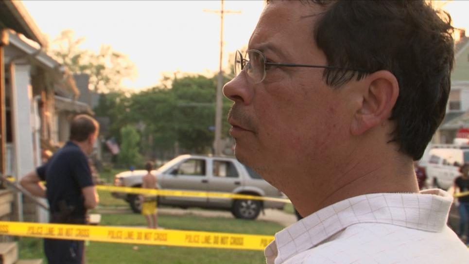 Detective Sandoval speaks to victim's roommate