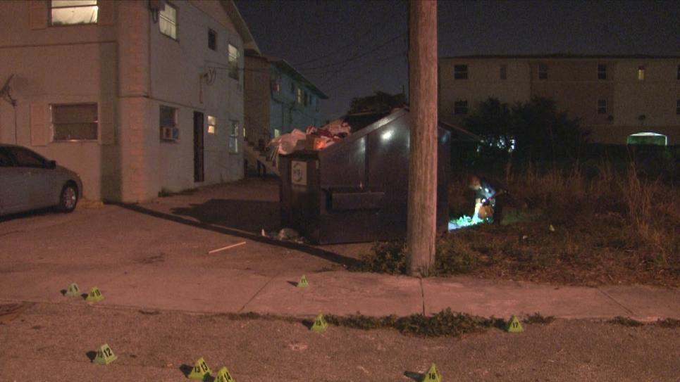 Police find shot man behind dumpster