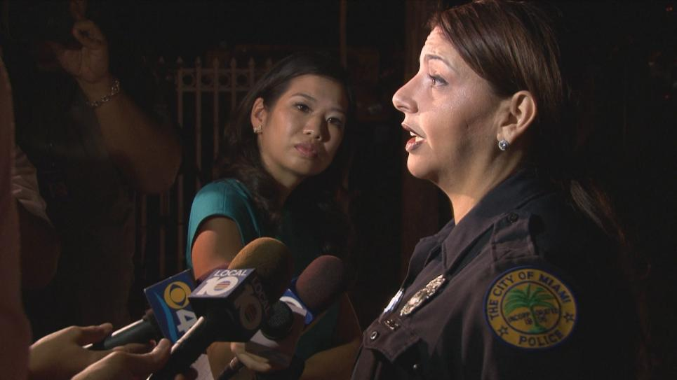 Public Information Officer Reyes gives statement