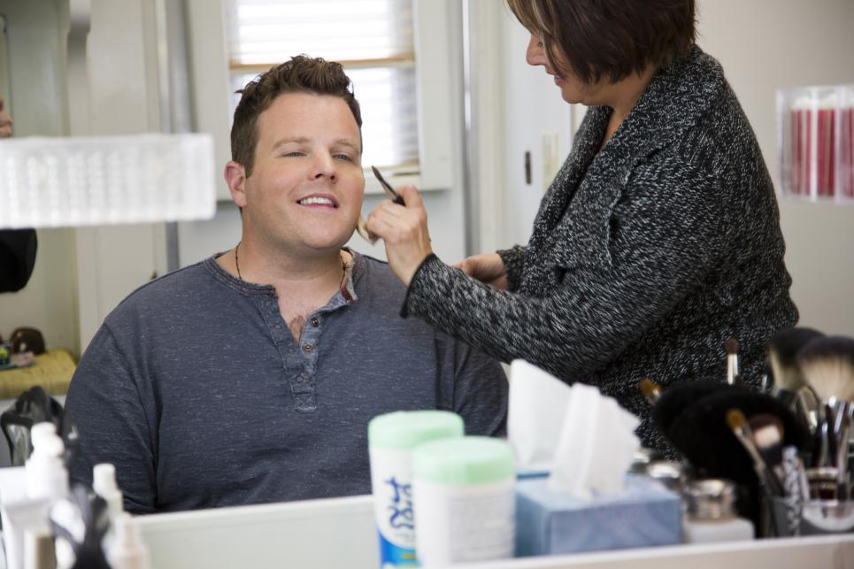 Adam Bartley gets pretty for camera