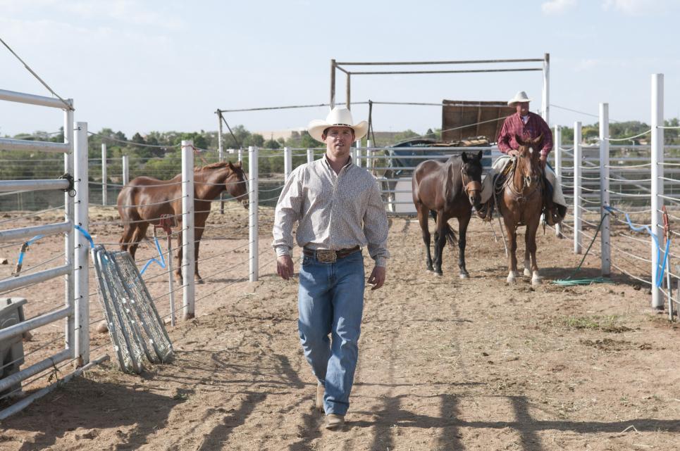 Sean Hatosy plays Bronc rider Levi Giggs