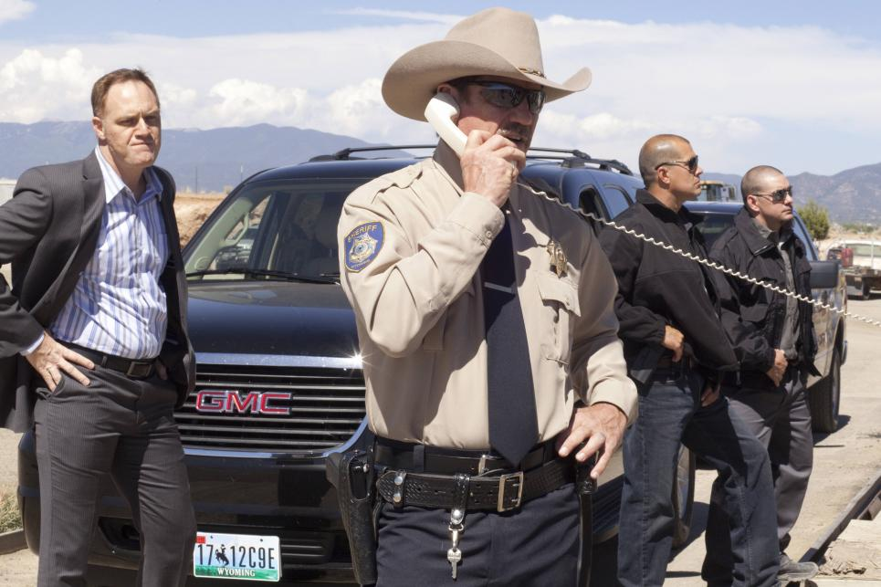 Sheriff Jim Wilkins mad at Longmire