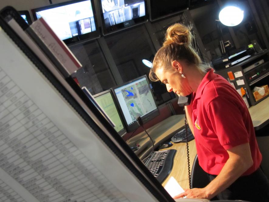 Dispatcher Mary Lage took call