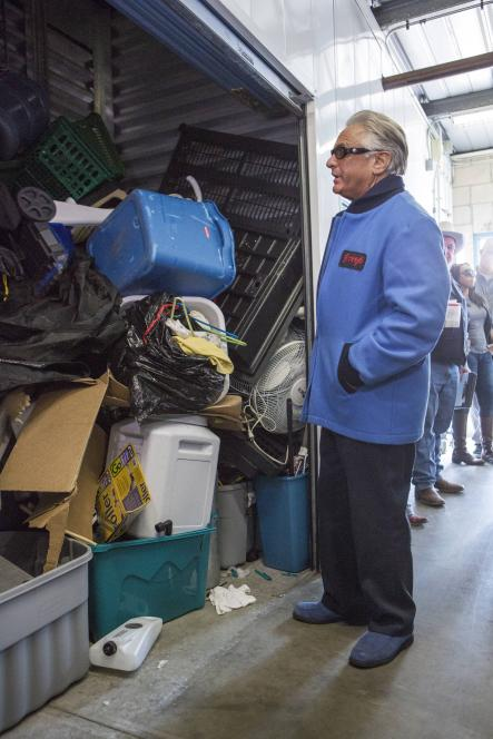 Barry Weiss finds locker of marijuana growing equipment