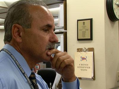 Sergeant Gonzalez contemplates murder case