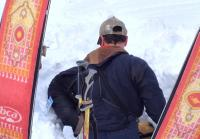 Rescuers are able to dig Chad out from avalanche