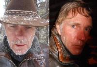 Makeup artist used  water expanding powder on Wayne and Walt