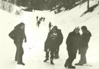 Crew trekked up slopes in Red River