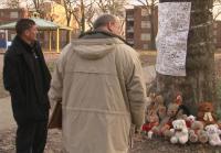 Detectives Sowa and Diaz discover makeshift memorial