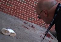 Officer observes blood splatter