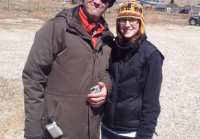 Hunt Baldwin and Emily Thomas on location