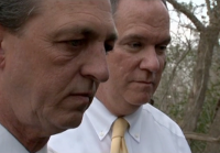Sergeants Beall and Reynolds examine crime scene