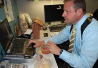 Laptops make it easier for detectives to work on the go