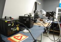 Forensic laser system traces evidence