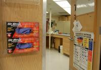 Gloves prevent contamination of evidence in crime lab
