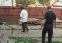 Victim was murdered in backyard