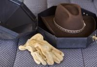Longmire's hat has seen lots of action
