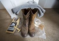 Longmire's boots await filming