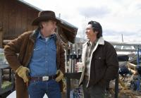 Robert Taylor and Lou Diamond Phillips warm up