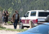 Longmire and Vic arrive on the scene