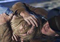 Walt pulls April out of train's path