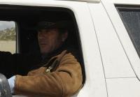 Walt Longmire sits in Bronco