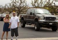 Brandi and Jarrod use pickup truck
