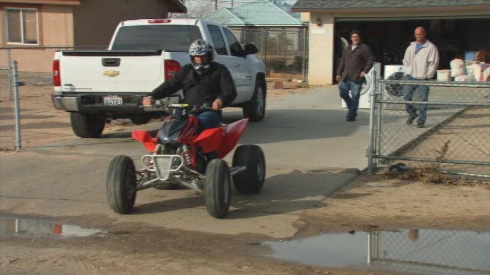 Antonio's last ride on his quad