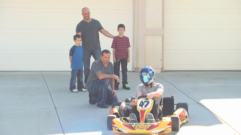 Vito rides go-kart