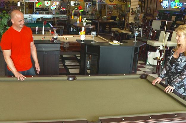 Steve offers  deli cart for pool table