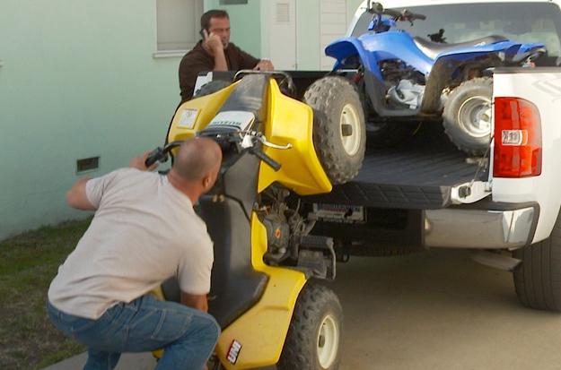 Steve hauls quads home to surprise kids