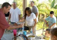 Palazzola and McHugh families barbeque