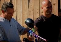 Steve and Antonio test paintball gun