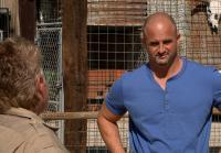 Steve and zoo owner discuss python trade