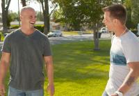 Steve meets flat screen TV owner