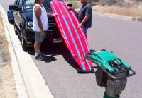 Antonio gets bite for paddle board