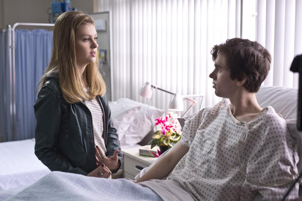 Bradley visits Norman in hospital