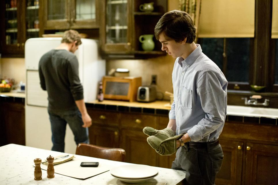 Dylan and Norman in the kitchen